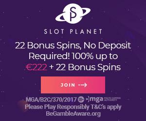 Slot Planet £10 Free + 10 no deposit